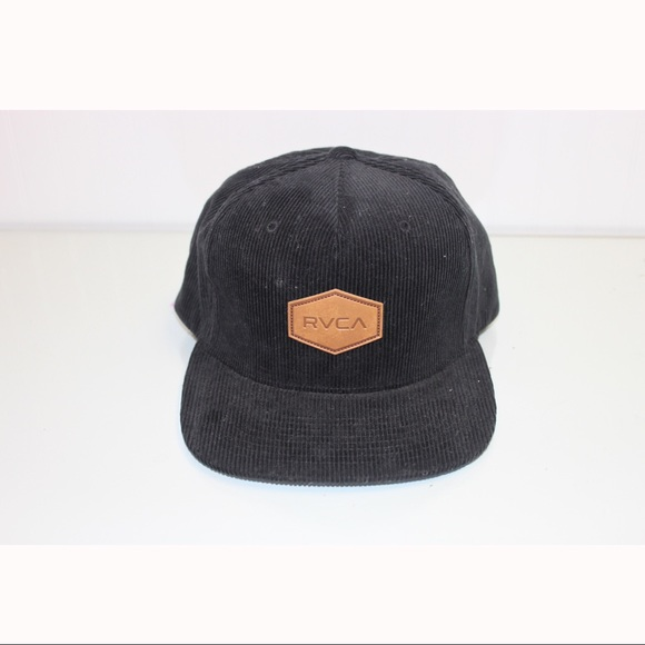 241bb71e4ccda ... switzerland nwot black corduroy rvca hat 516f1 26dc1